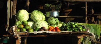 Veggie stall (Kampala, Uganda)