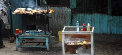 Chicken stall (Kenya)