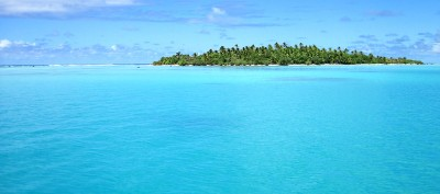 Somewhere on Cook Islands reef waters