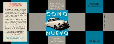 Label: Pulimiento COMO NUEVO | Film: Palmeras en la Nieve | 2016 © Nostromo Pictures S.L.