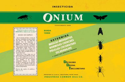 Label: Insecticida ONIUM | Film: Palmeras en la Nieve | 2016 © Nostromo Pictures S.L.