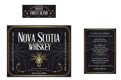 Label: Whiskey NOVA SCOTIA | Film: Palmeras en la Nieve | 2016 © Nostromo Pictures S.L.