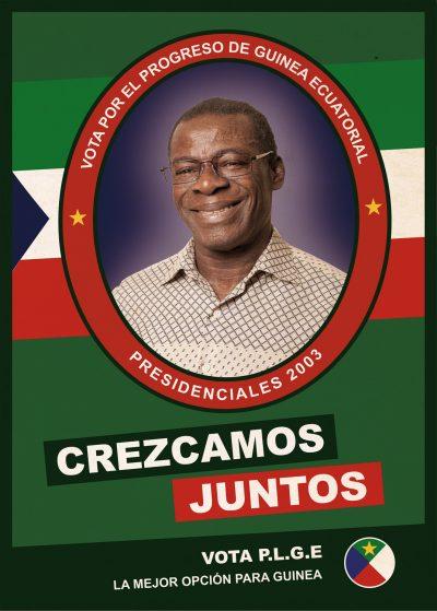 Poster: Obiang 2003 – elecciones 02 | Film: Palmeras en la Nieve | 2016 © Nostromo Pictures S.L.